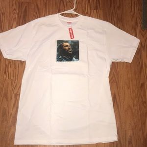 Marvin Gaye supreme white t Large
